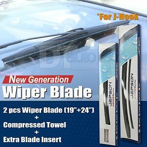 All Season 22 19 Premium Oem Bracket Less Windshield Wiper Blades 2 Pieces