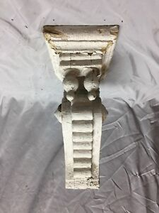 Single Antique Double Finial Wood Corbel Shelf Shabby Vintage Old Chic 480 18c