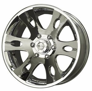 17x8 33 Offset 6x139 7 Mb Motoring Blitz Chrome Wheels rims Inch Discontinued