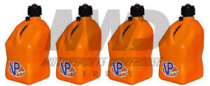 4 Vp Racing Orange 5 Gallon Square Fuel Jugs water Container jerry Gas Can