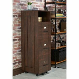 Bowery Hill Industrial Filing Cabinet In Vintage Walnut