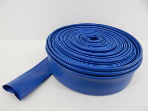 Lay Flat Discharge Hose 1 1 2 X 100 Lt Blue Made In Usa