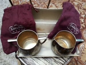 Vintage Empire Crafts Quadruple Plated Nobility Plate Cream And Sugar Bowl