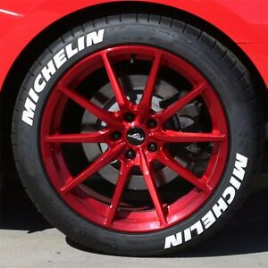 Permanent Tire Letters Michelin 1 5 For 14 15 16 Wheels 4 Stickers