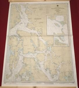 Nautical Chart Used In Sailing Expedition Alaska Etolin Island Midway Islands