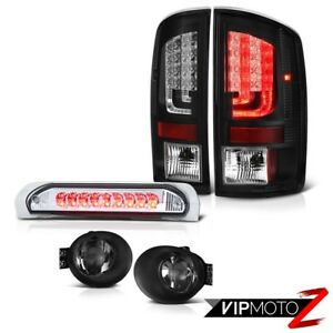 2002 2006 Dodge Ram 1500 3 7l Taillamps Smoked Fog Lights High Stop Light Led