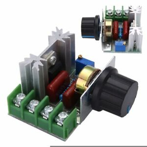 50 220v 2000w Ac Motor Dimmers Scr Controller Knob Switch Kit Speed Control Tool