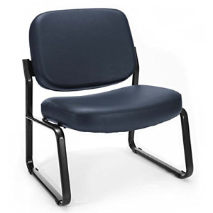 Ofm Big And Tall Armless Reception Chair Anti microbial anti bacterial Vinyl