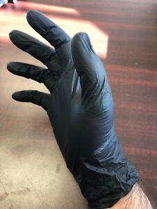 Nitrile Disposable Gloves Powder free Non medical 3 5 Mil Black