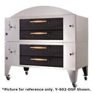 Bakers Pride Y 802bl dsp Super Deck Y Series Brick Lined Double Deck Pizza Oven