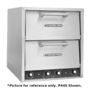 Bakers Pride P44 bl Brick Lined Electric Countertop Pizza And Pretzel Oven