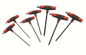 Craftsman 946383 Hex Keys T handle Ball End 1 8 1 4in Sae Set Of 7