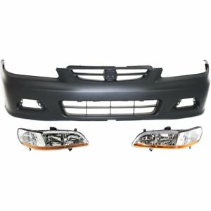 Front New Kit Auto Body Repair For Honda Accord 2001 2002