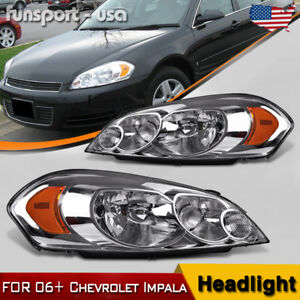 For 2006 2013 Chevy Impala 06 07 Monte Carlo Replacement Headlights Left Right