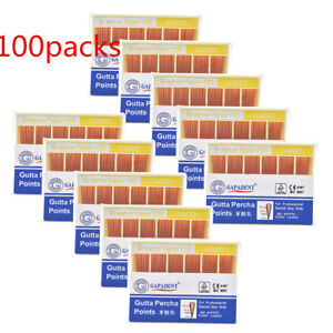 100x Dental Gutta Percha Point 0 04 20 Zinc Oxide Barium Sulfate 60 Points box