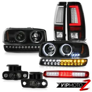 99 02 Sierra Sl Tail Lights Roof Brake Light Turn Signal Fog Headlamps Tron Tube