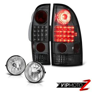 2005 2011 Toyota Tacoma Smoke Tail Lights Led Clear Bumper Fog Lights Lamp Kits