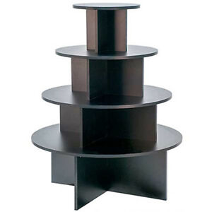 Display Table 4 Tier Round Clothing Store Black Knockdown Made In The Usa New