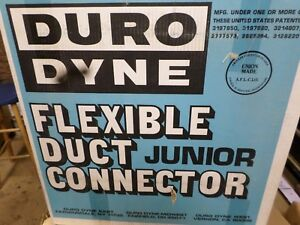 Duro Dyne Junior 10169 Excelon Flexible Duct Connector 100 Roll Metal Fab Jbx