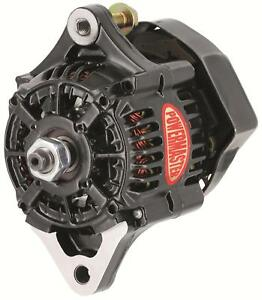 Powermaster Race Alternator 50 Amps Black Powdercoated 12v Nippondenso Case 8162