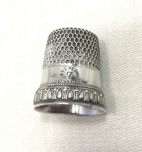 Antique Sterling Silver Thimble Size 7 Simons Bros Priscella Sewing 2128