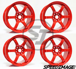 4x Gram Lights 57dr 18x9 5 38 5x114 3 Milano Red Set Of 4 Wheels Wheel