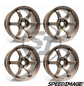 4x Gram Lights 57dr 18x9 5 38 5x114 3 Matte Dark Bronze Set Of 4 Wheels Wheel