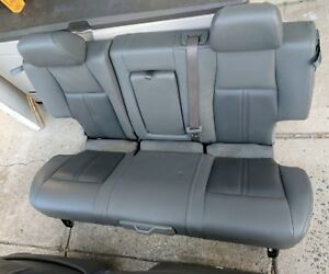 2007 Jeep Grand Cherokee Limited Gray Leather Rear Back Seat