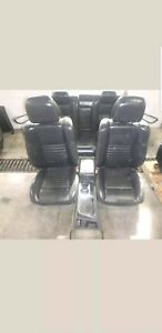 12 16 Dodge Challenger Front Rear Seat Console Black Leather Heat Power Oem