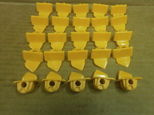 25 Inserts For Corghi Tire Changer with Insert Pin For Silver Mountheads
