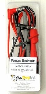 Pomona Electronics 5672a Test Leads Kit Alligator Clips Test Probes