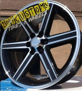 24 Stw 248 Black Iroc Replica Wheels Only 24x10 6x139 7 Free Shipping