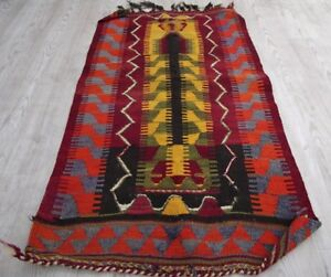 Turkoman Handmade Wool Small Mut Rug 32 X 41 Ethnic Home Decor Old Kilim