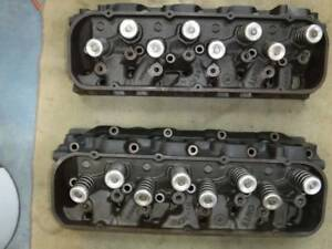 1967 Chevy 396 427 Heads 3904391 Rectangle Port Complete As Removed