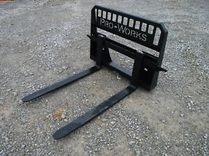 Bobcat Skid Steer Attachment New 48 5 500 Pound Pallet Forks Free Shipping