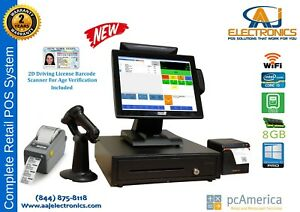 Retail Cash Register Express Pos Cre W Id Scan Label Printer Monthly