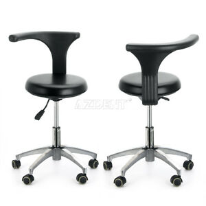 2xdental Dentist Doctor Assistant Stool Adjustable Mobile Chair Pu Hard Leather