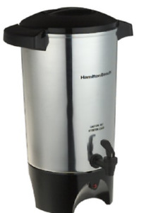 Large Brewer Commercial Coffee Dispenser Maker Urn Big Silver Office Restaurant