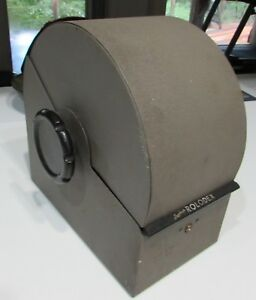 Vintage Large Gray Steel Rolodex 3500 s Metal Covered Rotary Card File Key Lock
