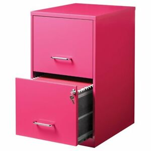 Scranton Co 2 Drawer File Cabinet In Pink