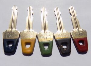 Gilbarco Veeder root Pos Lot Of 5 Brass Keys G site Cashier Manager Keys