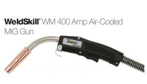 Tweco Weldskill 400 Amp Mig Gun With Euro kwik Style Back end Up To 1 16