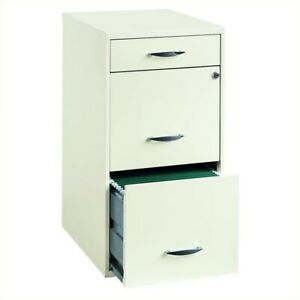 Scranton Co 3 Drawer Steel File Cabinet In White