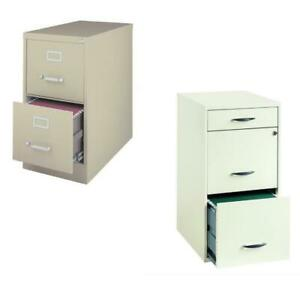 Value Pack set Of 2 2 Drawer File Cabinet In Putty And White