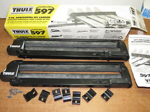 Thule 597 4 Pair Ski Carrier New Open Box With Locks No Key Or Mounts