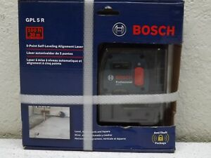 Bosch 5 point Self leveling Alignment Laser Gpl5r 100 Ft 30m Brand New