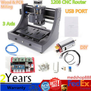 Cnc 1208 Usb 3axis Mini Router Wood Carving Engraving Pcb Milling Machine Usa