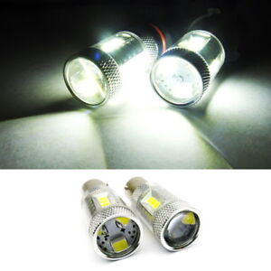Pair 1156 7506 P21w Ba15s Samsung 15 Smd Led Projector Reverse Light For Mazda