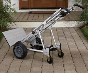 Heavy Duty Hand Truck Moving Dolly Aluminum Cart With 4 Wheels 3 in 1 Trolley