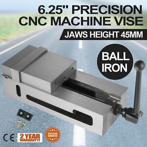 6 3 Precision Bench Cnc Clamping Vise Fixed Jaw Chiseling Detachable Grinded